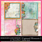 Captured Moments 1 Stacked Papers-$4.99 (Laura Burger)
