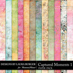 Captured Moments 1 Grunge Papers-$3.49 (Laura Burger)