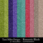 Romantic blush glitter sheets small
