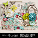 Romantic Blush Embellishment Pack-$3.99 (Tami Miller)