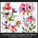 Jumpstart Your March 2017 Artful Blooms-$3.99 (Jumpstart Designs)