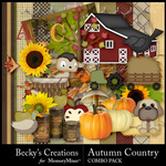 Autumn Country Combo Pack-$3.49 (Becky's Creations)