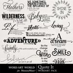 Quote It WordArt Pack-$2.49 (Word Art World)