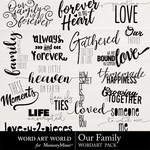 Our Family WordArt Pack-$2.49 (Word Art World)