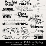 Celebrate Spring WAW WordArt Pack-$1.75 (Word Art World)