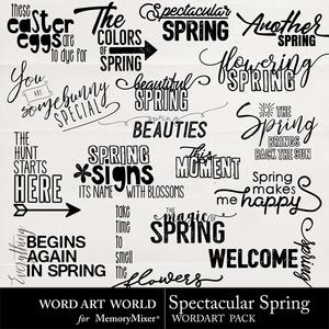 Spectacular spring word art medium