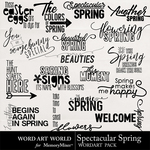 Spectacular Spring WordArt Pack-$2.49 (Word Art World)