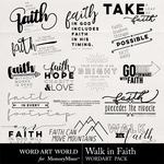 Walk in Faith WordArt Pack-$2.49 (Word Art World)