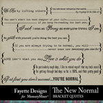 The New Normal Bracket Quotes Pack-$2.80 (Fayette Designs)