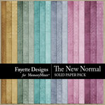 The New Normal Distressed Solid Papers-$3.99 (Fayette Designs)