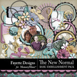 The New Normal Basic Embellishments-$3.49 (Fayette Designs)