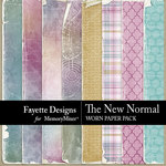 The New Normal Worn Paper Pack-$3.99 (Fayette Designs)