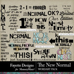 The New Normal WordArt Pack-$3.99 (Fayette Designs)