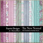 The New Normal Patterned Paper Pack-$4.99 (Fayette Designs)