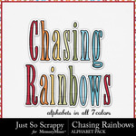 Chasing Rainbows Alphabet Pack-$2.10 (Just So Scrappy)