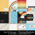 Chasing Rainbows Pocket Cards Pack-$1.40 (Just So Scrappy)