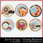 Chasing Rainbows Cluster Pack-$1.99 (Just So Scrappy)