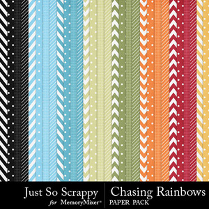 Chasing rainbows pattern papers medium