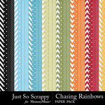 Chasing Rainbows Pattern Paper Pack-$1.99 (Just So Scrappy)