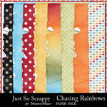 Chasing Rainbows Worn and Torn Papers-$1.40 (Just So Scrappy)