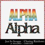 Chasing rainbows kit alphabets small