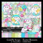Easter Bonnets Combo Pack-$4.99 (CutiePie Scraps)