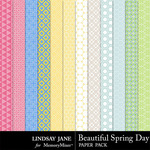 Beautiful Spring Day Pattern Papers-$1.99 (Lindsay Jane)