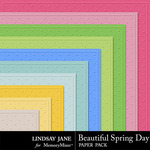 Beautiful Spring Day Embossed Papers-$1.99 (Lindsay Jane)