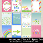 Beautiful Spring Day Journal Cards-$1.99 (Lindsay Jane)