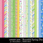 Beautiful Spring Day Paper Pack-$2.49 (Lindsay Jane)