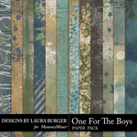 One for the Boys Grunge Paper Pack-$2.80 (Laura Burger)