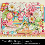Sweetie embellishments small