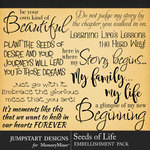 Seeds of Life WordArt Pack-$3.99 (Jumpstart Designs)
