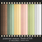Seeds of Life Solid Paper Pack-$3.99 (Jumpstart Designs)