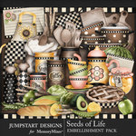Seeds of Life Homestyle Embellishments-$4.99 (Jumpstart Designs)