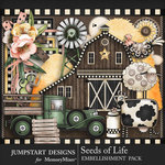 Seeds of Life Country Embellishments-$3.99 (Jumpstart Designs)