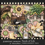 Seeds of Life Garden Embellishments-$4.99 (Jumpstart Designs)