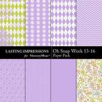 Oh Snap Week 13-16 Paper Pack-$1.99 (Lasting Impressions)