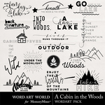 A Cabin in the Woods WordArt Pack-$2.49 (Word Art World)