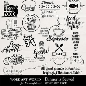 Dinner is served medium