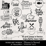 Dinner is Served WordArt Pack-$2.49 (Word Art World)