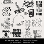 Lunch is Served WordArt Pack-$2.49 (Word Art World)