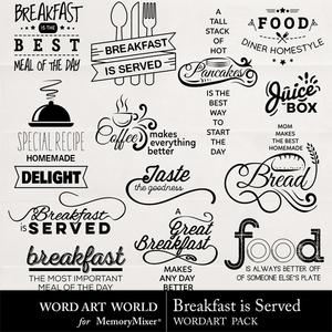 Breakfast is served medium