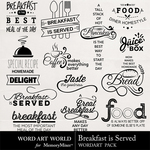 Breakfast is Served WordArt Pack-$2.49 (Word Art World)