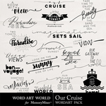Our Cruise WordArt Pack-$2.49 (Word Art World)