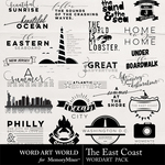 The East Coast WordArt Pack-$2.49 (Word Art World)
