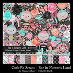 Bee In Flowers Land Combo Pack-$4.99 (CutiePie Scraps)