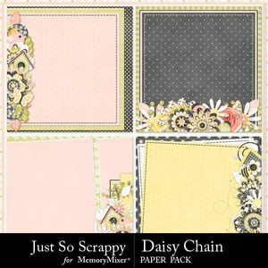 Daisy chain stacked papers medium