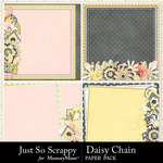 Daisy chain stacked papers small