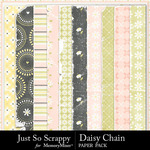 Daisy Chain JSS Worn Paper Pack-$1.99 (Just So Scrappy)